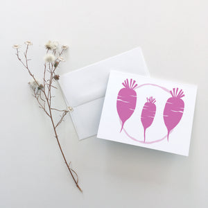 Daikon Radish Greeting Cards