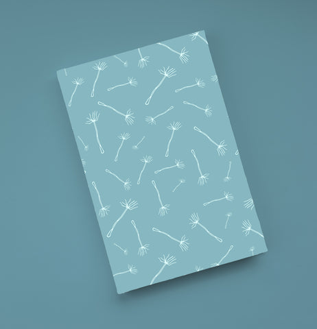 Light Blue Dandelion Journal