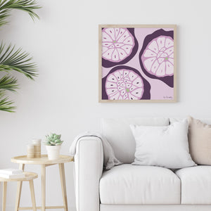 Garlic Cross-Section Art Print