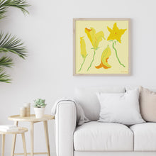 Load image into Gallery viewer, Squash Blossom Art Print