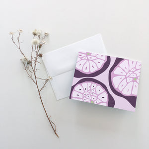 Garlic Cross Section Greeting Cards