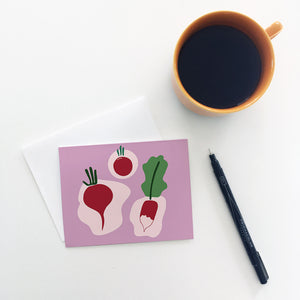 Red Radish Greeting Cards