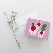 Load image into Gallery viewer, Red Radish Greeting Cards