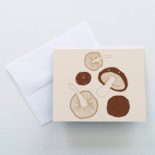 Load image into Gallery viewer, Shiitake Mushroom Greeting Cards