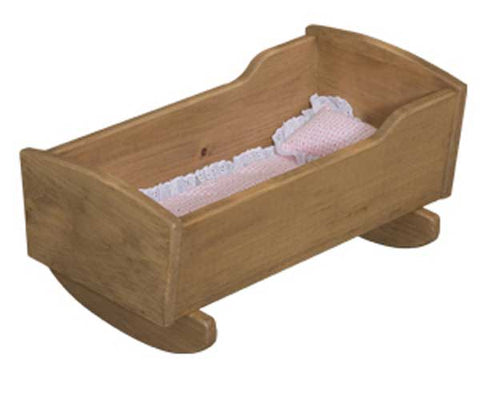 Wooden Cradle for Babies Toys for Kids Children Play Room Furniture Rocking Doll Bed