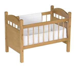 Handmade Wooden Crib for Playhouse