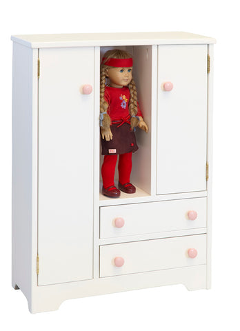 Deluxe Wardrobe Wooden Furniture for Kids Playhouse
