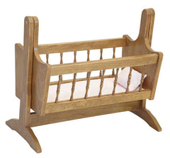 Hard Wood Swinging Rocking Cradle for Doll Kids Playhouse