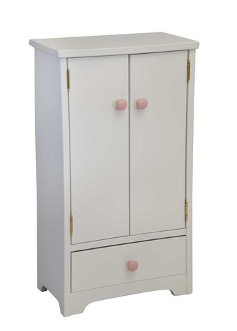 Hard Wood Tall Wardrobe Kids Children Play Room Furniture