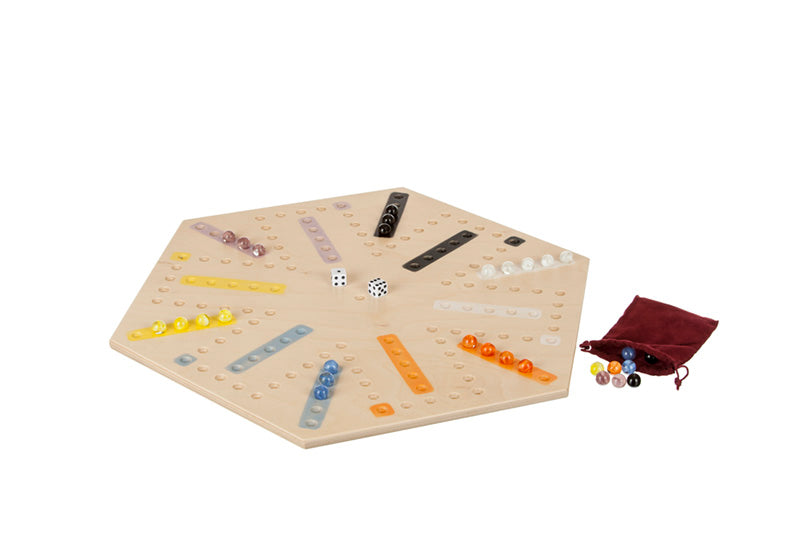 Wooden Aggravation Marble Game w/o edge 4 to 6 Player