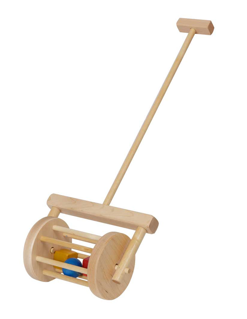 Wooden Push Toys Block Roller