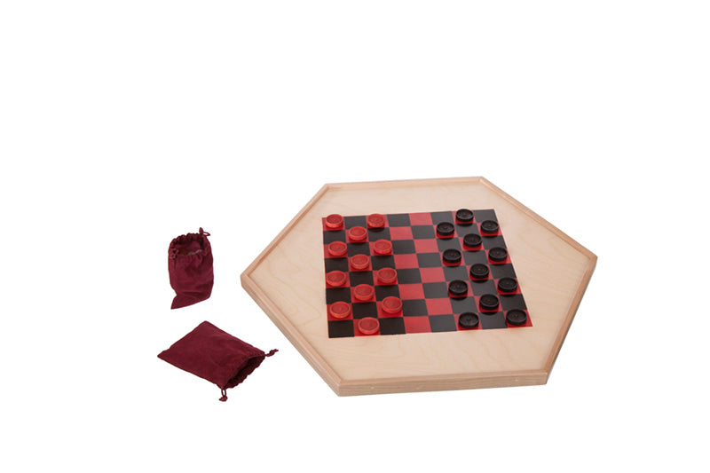 Wooden Checker Gameboard Educational Toys