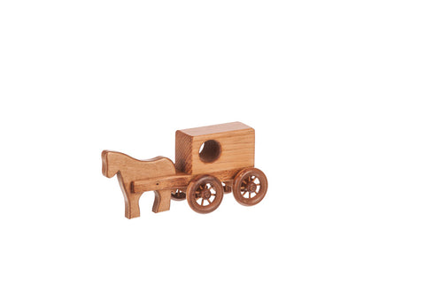 Horse & Buggy Small Wooden Toys for Kids
