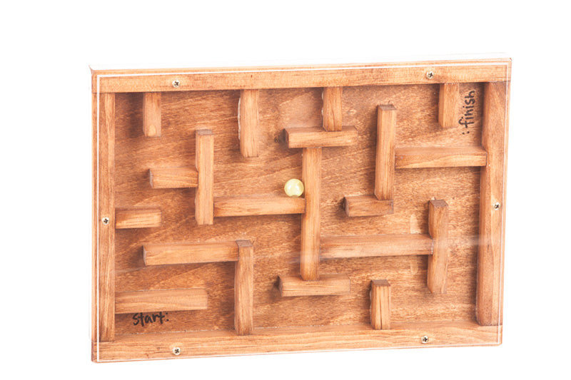 Marble Maze Wooden Toys for Kids Hand to Eye Coordination Wood Game