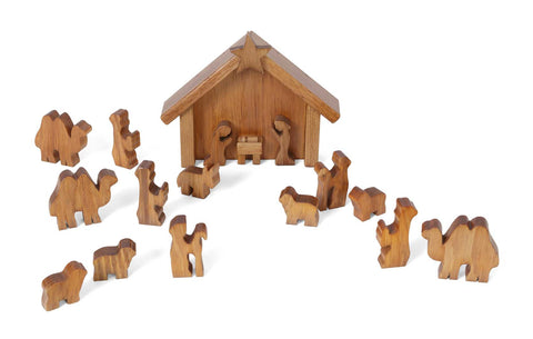 Manger Scene Nativity Scene Wooden Handmade Christmas Decorations