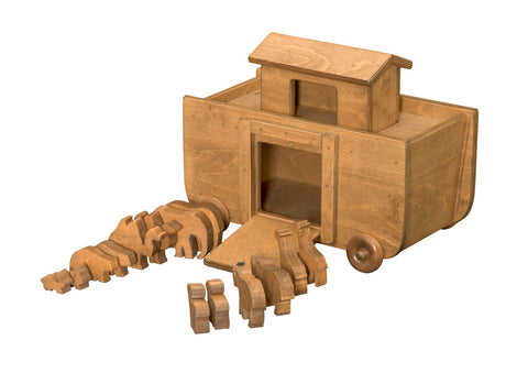 Noah's Ark w/ Animals Handmade Wooden Decorative Toys
