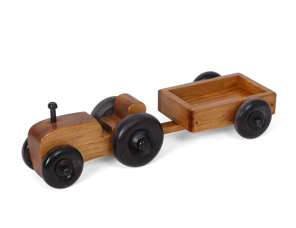 Tractor Wagon Handmade Wooden Toys for Kids