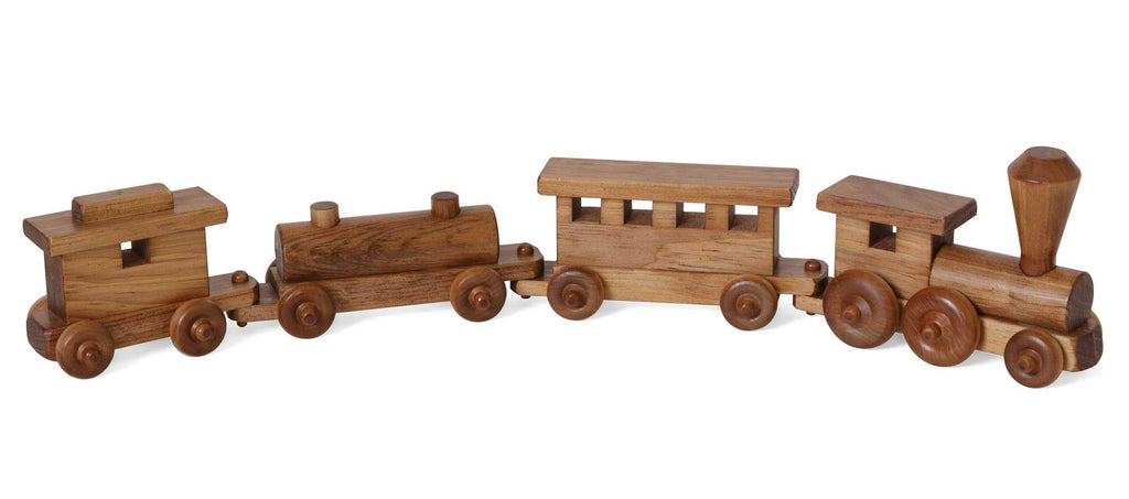 Traditional Wooden Train Toys for Kids