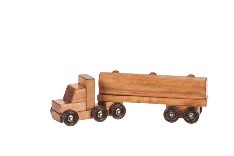 Wooden Truck Small Tank Truck Toys for Kids