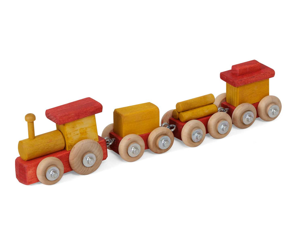 Traditional Wooden Decorative Small Train Toys for Kids