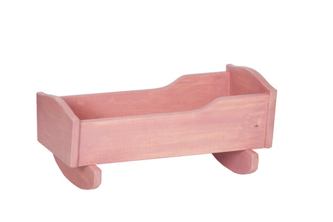 Wooden Doll Cradle Toys for Kids Play in Multicolor