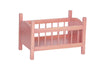 Image of Wooden Doll Crib Toys for Kids Playhouse in 4 Different Color