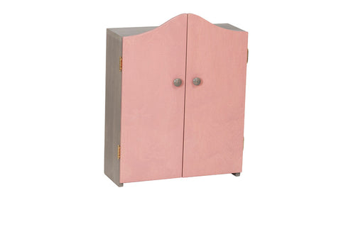 Double Door Doll Wardrobe for  Kids Children Play Room Furniture