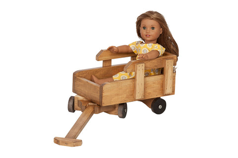 Wooden Doll Wagon Toys for Kids Children