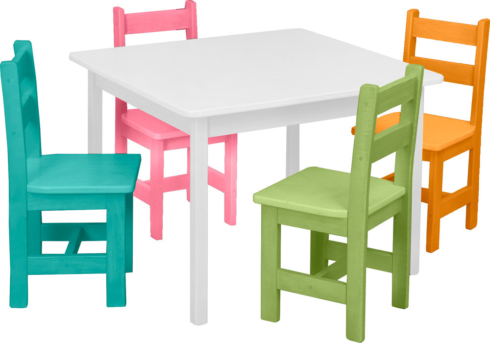Handmade Wooden Table (20x30) w/ 2 Chairs for Playrooms