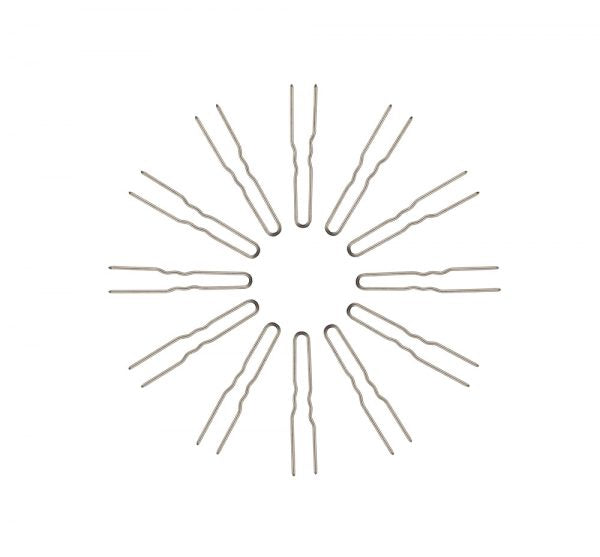 Stainless Steel Crinkled Snag-Free Hairpins (4 Different Lengths)