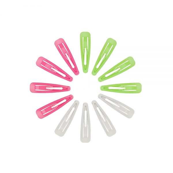 Assorted Neon Snag-Free Hair Snap Clips
