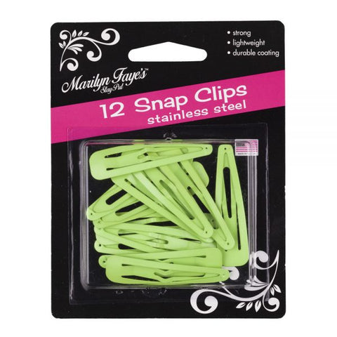 Assorted Colors Snag-Free Hair Snap Clips (Choose from 7 colors)