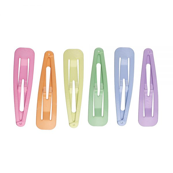 Assorted Pastel Snag-Free Hair Snap Clips