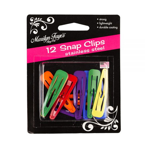Assorted Rainbow Snag-Free Hair Snap Clips