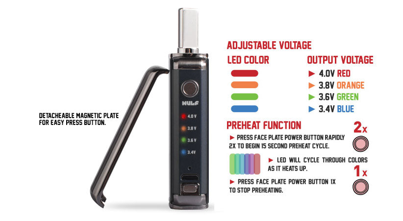 WULF DUO 2 in 1 cartridge and concentrate vaporizer