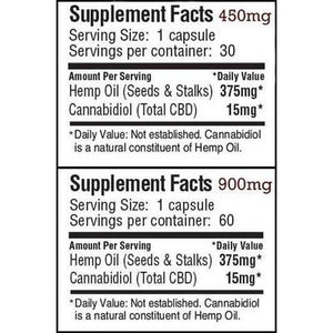 Concentrated Hemp Oil Capsules