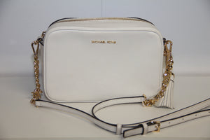 Michael Kors Ginny Crossbody Optic White Leður Taska
