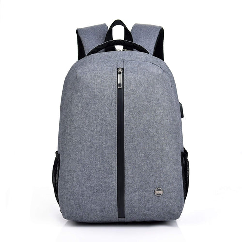 Nylon College Travelling Usb Laptop Backpack