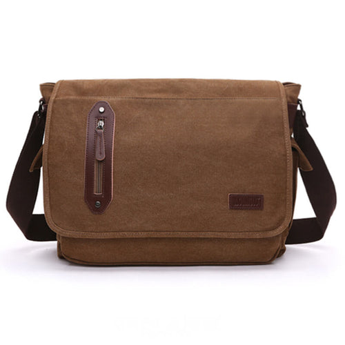 Canvas Mens Messenger Bag Large Satchel Laptop Shoulder Bag