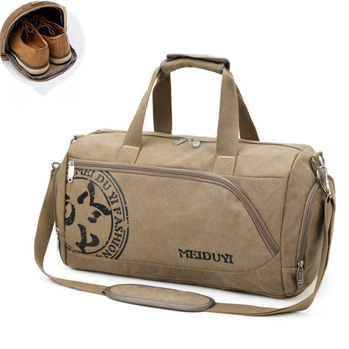 Custom Outdoor Gym Gymnastics Luggage Duffel Bag Organizer With Shoe Compartment