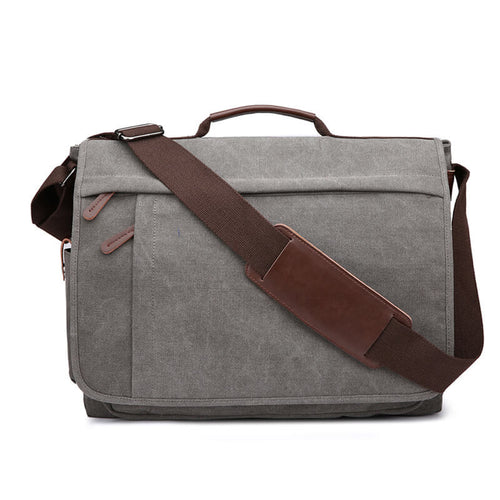Customized laptop canvas shoulder men messenger bag