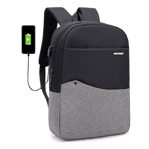 USB Charging College School bagpack