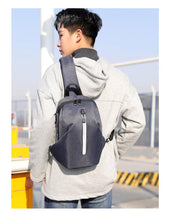 Load image into Gallery viewer, Fashionable Business Waterproof travel men chest sport sling bag