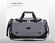 Load image into Gallery viewer, Large Capacity Durable Nylon Travel Tote Sports Gym Bag