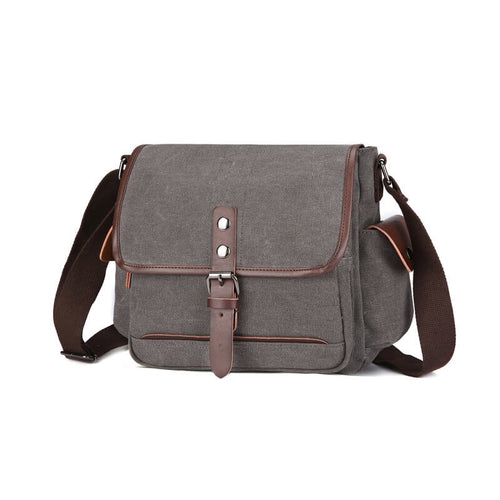 Male Business Briefcase Canvas Messenger Bag