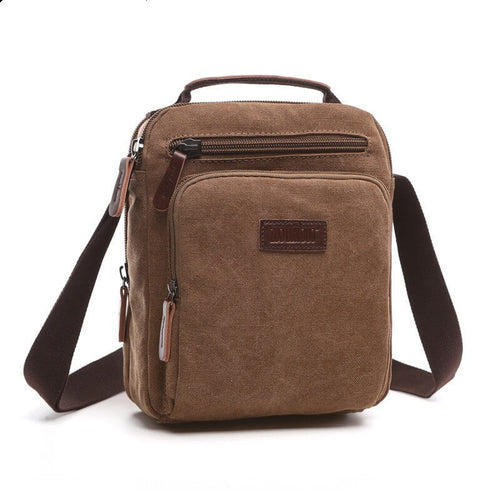 Men's Messenger Bags Canvas shoulder Casual Travel canvas Men's sling bag