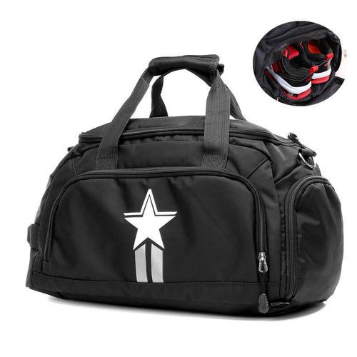 Multifunction Travel Fitness Gym Bag Sport Duffel Bag With Shoe Compartment