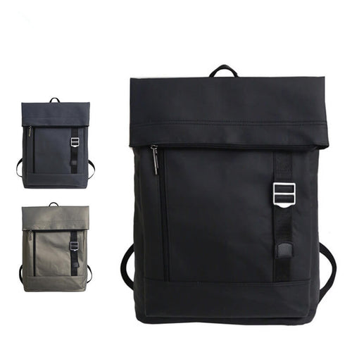 Black Backpacks Oxford Casual Waterproof Zipper Laptop Daypack
