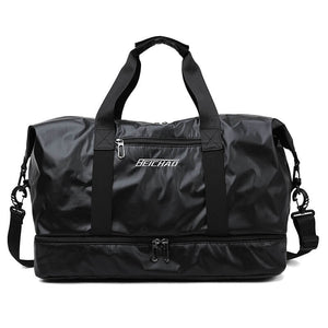 Travel Duffel Bag Sports Hand Bag With Shoe Compartment