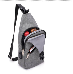 Vintage travel small cross body bags sling mini shoulder bag for men